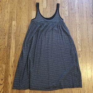 Striped Babydoll Neckline Dress